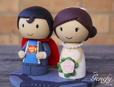 Cute SUPERMAN superhero wedding cake topper  by GenefyPlayground  https://www.facebook.com/genefyplayground