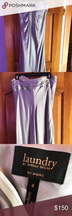 Laundry by Shelli Segal strapless gown Silver strapless gown, comes with cups Perfect for prom or black tie event  Worn once, like brand new Laundry By Shelli Segal Dresses Strapless