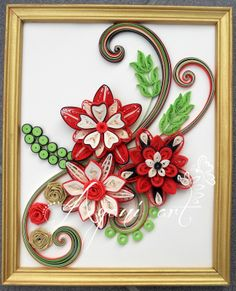 Ayani art: Quilled colorful frame
