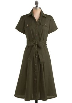 """The color olive has grown on me since being in Cub Scouts. """"Scout's Honor Dress"""""""