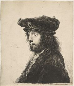 The Fourth Oriental Head Rembrandt (Rembrandt van Rijn) (Dutch, Leiden 1606–1669 Amsterdam) Date: ca. 1635 Medium: Etching; second state of three Dimensions: plate: 6 1/8 x 5 3/8 in. (15.6 x 13.6 cm) Classification: Prints Credit Line: Gift of Jesse Howard, Jr., 1922 Accession Number: 22.52.1