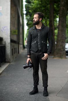 monde-des-hommes: http://monde-des-hommes.tumblr.com/ #style #fashion #men #black #clothing #mens beard