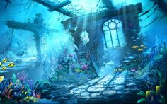Free Trine Underwater Scene phone wallpaper by kracker_76