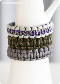 Basic Paracord Bracelets - Video tutorial by Craft & Creativity