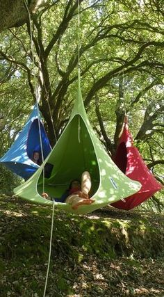 Fun camping or outdoor lounging idea.  I want one!
