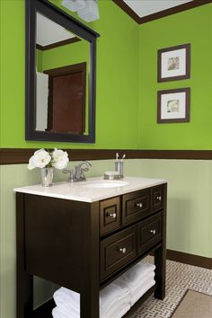 Greens, browns and beige -- Love the color palet like the color of this cupboard