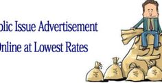 Public Issue Advertisement at Lowest Rates via releaseMyAd