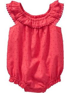 Swiss-Dot Bubble Rompers for Baby