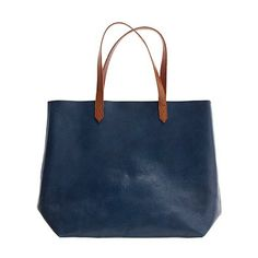 I've been looking for a simple, unlined, leather tote for a while now.  Could this Madewell version be the answer??