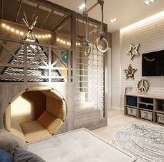 dream rooms for adults ; dream rooms for women ; dream rooms for couples ; dream rooms for adults bedrooms ; dream rooms for adults small spaces Cool Kids Rooms, Boys Room Ideas, Cool Boys Room, Kids Rooms Decor, Creative Kids Rooms, Playroom Ideas, Rustic Kids Rooms, Cool Beds For Kids, Hallway Ideas