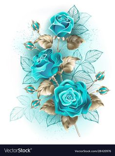 Buy Bouquet of Turquoise Roses by on GraphicRiver. Artistically drawn, turquoise roses with stems and leaves of white gold on white background. Rose Flower Wallpaper, Wallpaper Nature Flowers, Flower Background Wallpaper, Beautiful Flowers Wallpapers, Beautiful Rose Flowers, Butterfly Wallpaper, Flower Backgrounds, Pretty Wallpapers, Wallpaper Backgrounds
