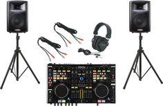 DenonDN-MC6000 / Harbinger APS12 DJ PackageGroup Shot