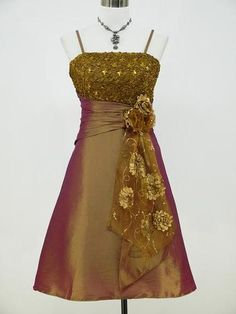 Cherlone-Satin-Golden-Sparkle-Lace-Prom-Ball-Cocktail-Party-Evening-Dress