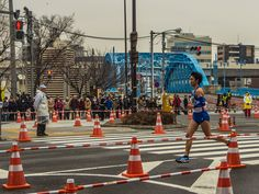 For those wanting an unobstructed view of the Tokyo Marathon runners other spots in Asakusa were better -like here, in front of Komagatabashi Bridge. #Asakusa, #Marathon, #Komagatabashi February 22, 2015 © Grigoris A. Miliaresis