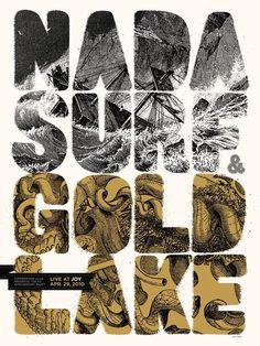 Poster Graphics / Nada Surf Gold Lake screen print poster