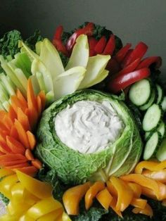 Cabbage dip bowl