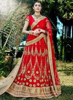 Maroon Embroidery Thread Work Designer Wedding Net Bridal Lehenga Choli http://www.angelnx.com/Lehenga-Choli/Wedding-Lehenga-Choli