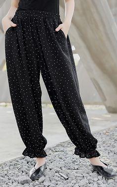 d7e1a5412e8 Solid Vintage Harem Pants Pencil Pants in 2019