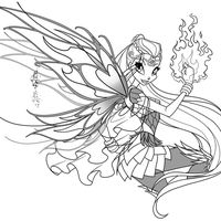 Bloom Transformation Sirenix Coloring Page Fairy Coloring Pages