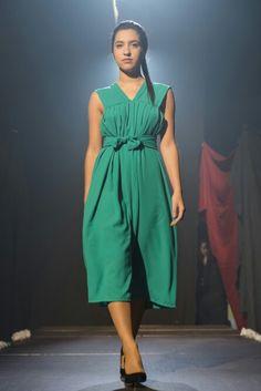 """Vestido """"Esmirna"""" en chifon de falsa seda de la coleccion """"Ciudades"""""""
