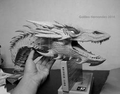 Dragon Bust by GalileoN on DeviantArt