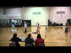 "Jodie Wagster show twirl baton routine to ""Believe"""