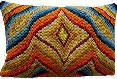 Rad Bargello Pillow on OneKingsLane.com
