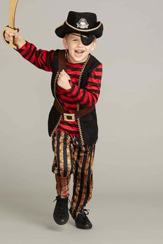 efcdf67dd A world of adventure awaits your little boy or girl in this rugged pirate  costume.