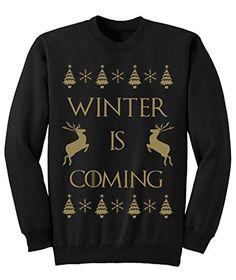 5eb6b3b47 Mens womens Winter is Coming CHRISTMAS jumper Sweatshirt NEW S-XXL  Amazon. co.uk  Clothing