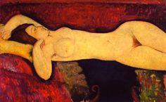 Le grand nu, Amedeo Modigliani : tableau de GRANDS PEINTRES et peinture de Modigliani