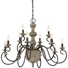 Found it at Joss & Main - Valerie 12-Light Candle-Style Chandelier- damp rated for over outdoor dining table