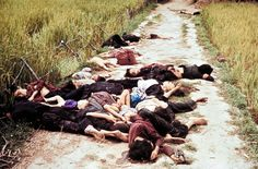 The My Lai massacre by American soldiers in Vietnam war