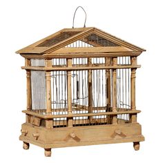 Century Birdcage in the Form of a Classical Temple, The bird cage is both a house for your birds and a decorative tool. You are able to choose whatever you want among the bird cage types and get far more particular images. Hanging Bird Cage, Diy Hanging, Dog Houses, Bird Houses, Diy Parakeet Cage, Bird Cage Design, Antique Bird Cages, Chicken Cages, Wooden Bird