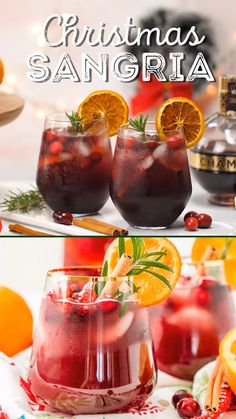 This Christmas Sangria is made with red wine fruit juices brandy soda and fruit for a delicious big-batch cocktail thats perfect for holiday parties. Christmas Drinks Alcohol, Christmas Sangria, Holiday Drinks, Holiday Recipes, Holiday Parties, Christmas Recipes, Christmas Vodka Cocktails, Christmas Menu Ideas, Drink Recipes