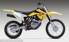 New toy: Brad Pitt has reportedly bought Maddox a Suzuki DRZ-125, which tops out at 50mph