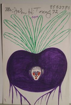 Orange Hill Folk Art Gallery and Outsider Art Gallery - John Henry Toney - Turnip with a Woman's Face Outsider Art, Alabama, Art Brut, Pictures To Draw, Orange, Woman Face, Folk Art, The Outsiders, Art Gallery