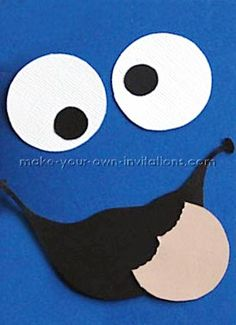 Cookie Monster Invitations Tutorial