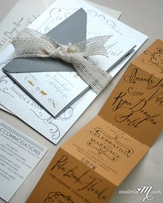 Our whimsical wedding invitations :)) Printed & assembled by One Little M http://onelittlem.com/