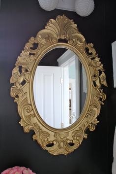 Dwellings By DeVore: Mirror Mirror - rustoleum gold spray paint
