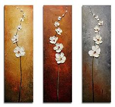 Wieco Art Dancing Petals Abstract Oil Paintings Modern Canvas Wall Art for Wall Decor 10x30inchx3pcs. Price: $55.90 & FREE Shipping.