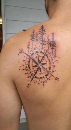 Tattoo boussole