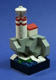 Lighthouse on the Bluff  LEGO Microscale