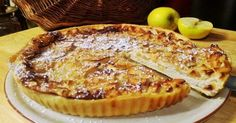 Le dessert du jour: la tarte Normande (la seule, l'unique)!