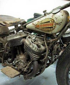 Harley Davidson, old style ...