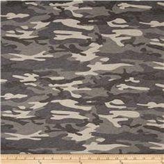 T-Shirt Jersey Knit Camoflauge Grey