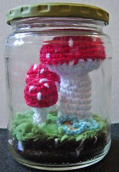 Mushroom in a mason jar???cute!!!