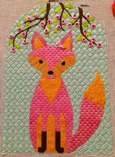 Even if Spring is still far away (even here in Texas) at least we have this little Spring Fox to cheer us up! This is another great stitch...