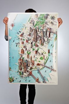 New York map by Katherine Baxter. One of the four gorgeous map prints from #AMapofTheWorld