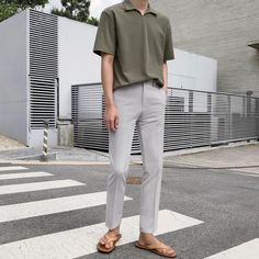 Stylish Mens Outfits, Casual Outfits, Asian Men Fashion, Slim Fit Dress Pants, Japan Outfit, Ulzzang Fashion, Mens Clothing Styles, Color Black, Ootd
