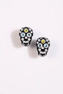 Tatty Devine Black Skull Earrings  www.urbanoutfitters.co.uk